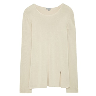 Fine-Knit Top With Cut-Out Back