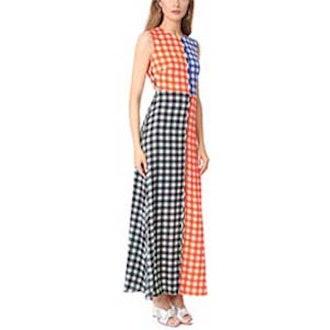 Sleeveless High Neck Flare Dress