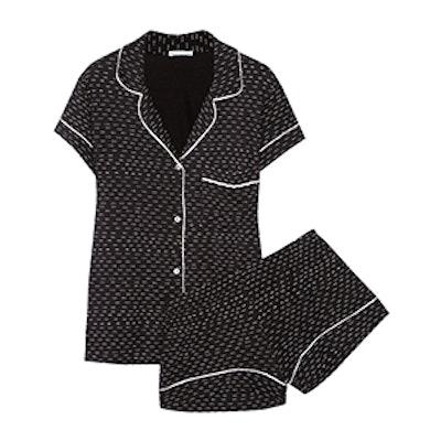 Sleep Chic Printed Jersey Pajama Set