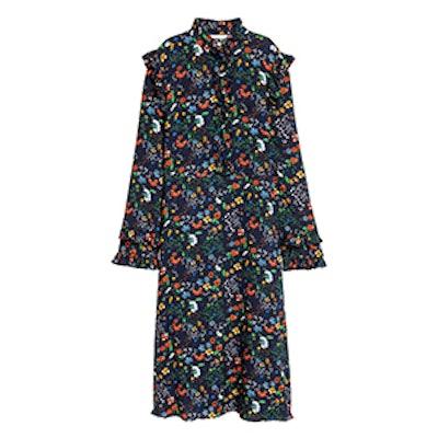 Ruffle-Trimmed Dress