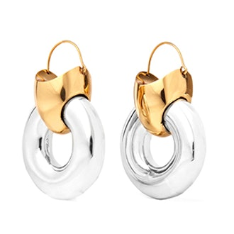 Hugh Gold-Plated And Silver Earrings