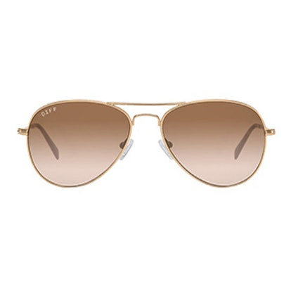 Cruz – Matte Gold Frame – Brown Gradient Lens