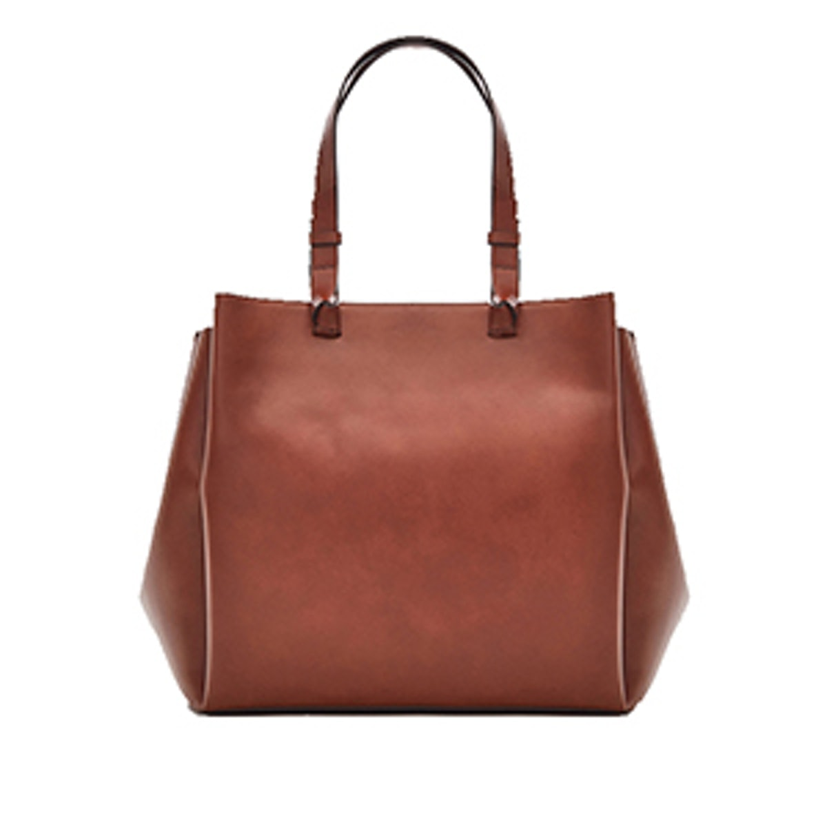Leather Tote Bag With Knotted Details