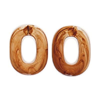 Oval Swirl Earrings