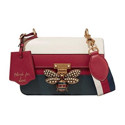Queen Margaret Embellished Paneled Leather Shoulder Bag