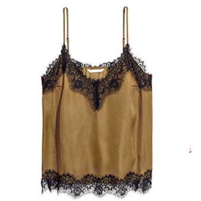 Satin and Lace Camisole Top