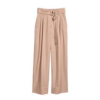 Wide-Cut Lyocell Pants