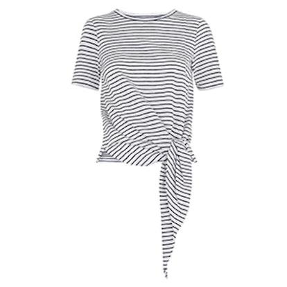 Stripe Side Tie Tee