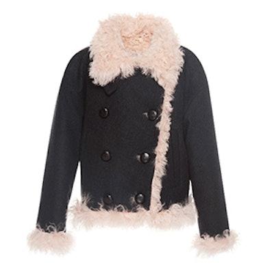 Belia Shearling Wool-Blend Coat