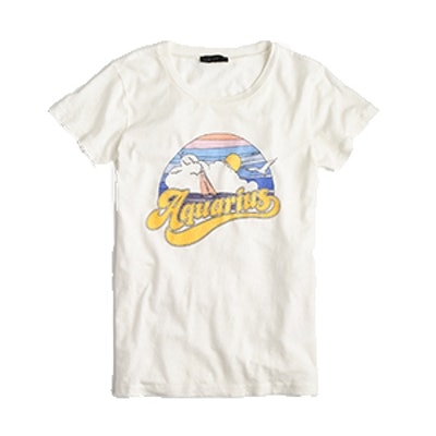 """Horoscope T-shirt in """"Aquarius"""""""