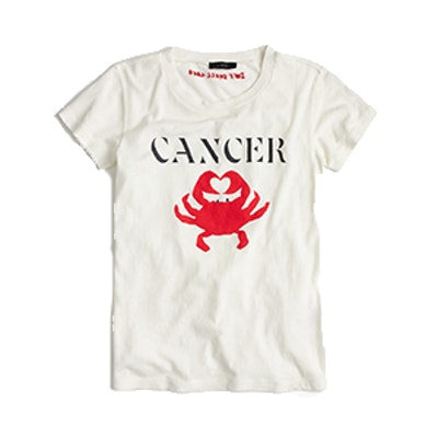 """Horoscope T-shirt in """"Cancer"""""""