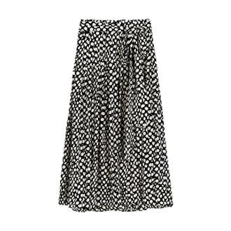 Silk Skirt In Ratti Polka Dot
