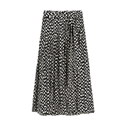 Silk Skirt In Ratti Polka Dot