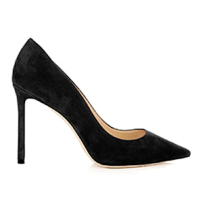 Romy 100mm Crushed-Velvet Pumps