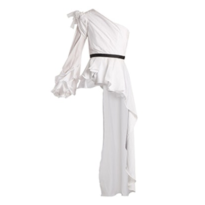 Malina One-Shoulder Asymmetric Cotton Top