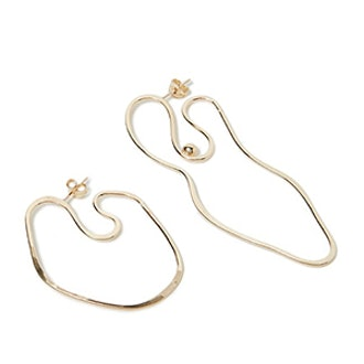 Abstract Nude Mismatched Earrings
