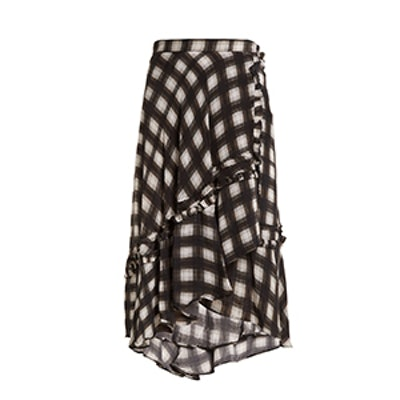 Dixie Checked Woven Midi Skirt