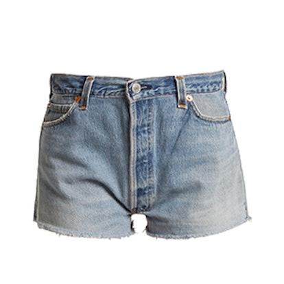 RE/DONE | LEVI'S The Short Mid-Rise Denim Shorts