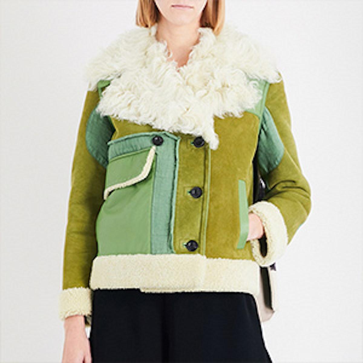 Printed Shearling Jacket
