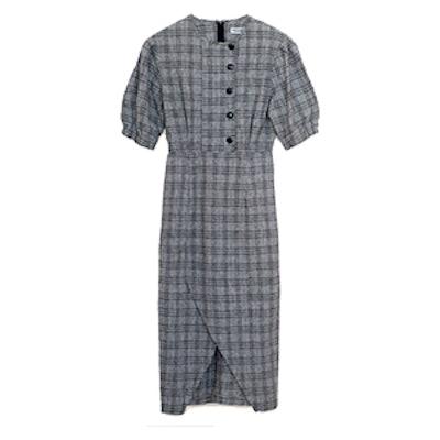 Grey Plaid Dress