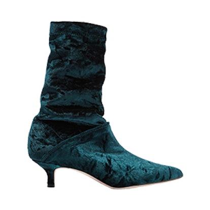 Harper Crushed Velvet Boots