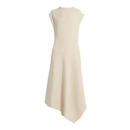 Raey Asymmetric-Hem Woven Cotton-Blend Dress