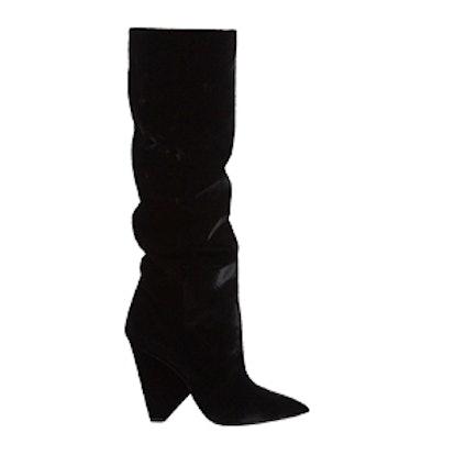 Saint Laurent Niki Slouch Velvet Boots