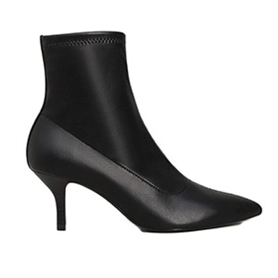 Pointed Heel Ankle Boot