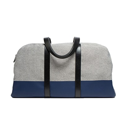 The Twill Weekender In Reverse Denim/Navy
