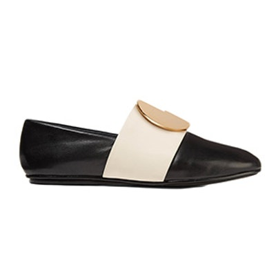 Caia Embellished Two-Tone Leather Loafers