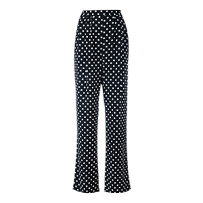 Polka Dots Straight Trousers
