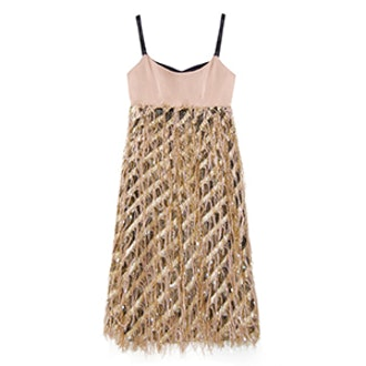 Diagonal Lurex Courtney Dress