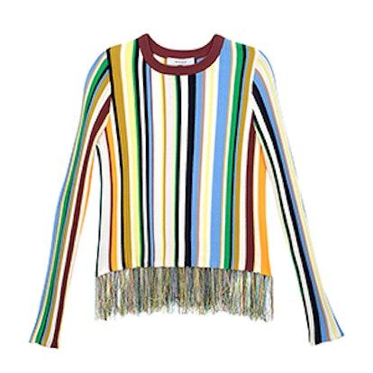Vertical Stripe Pullover Sweater