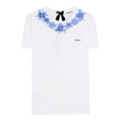 Embellished Cotton T-Shirt