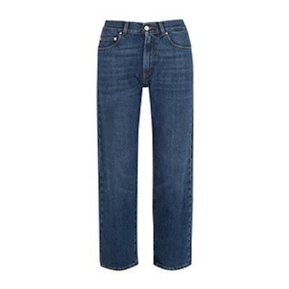 Cropped Slim Boyfriend Jeans