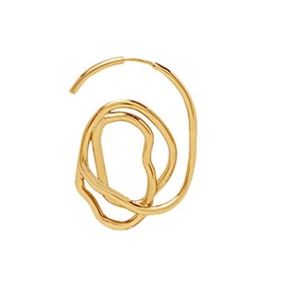 Forbidden Fruit Gold-Plated Earrings
