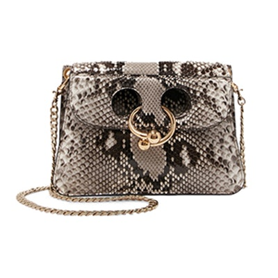 Pierce Mini Python Shoulder Bag