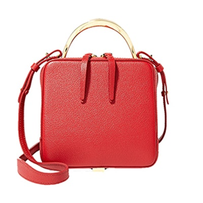 Cube Mini Textured-Leather Shoulder Bag