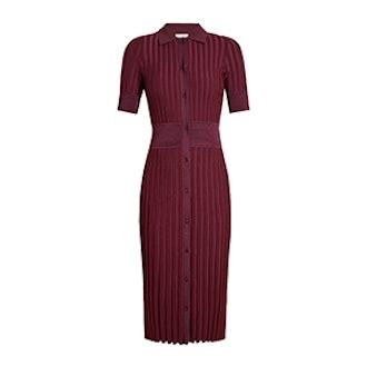 Olivia Short-Sleeve Knit Polo Dress