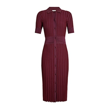 Olivia Short-Sleeve Knit Polo Dress