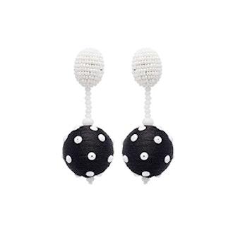 Polka Dot Sequin Ball Earrings