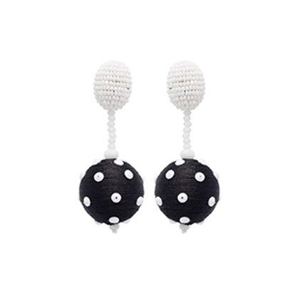 Polka Dot Sequin Ball Earrings