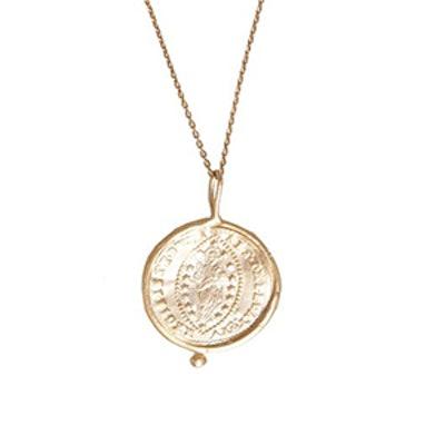 10K Gold Byzantine Coin Medal Pendant