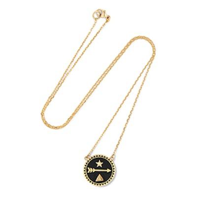 Dream 18-Karat Gold, Diamond And Enamel Necklace