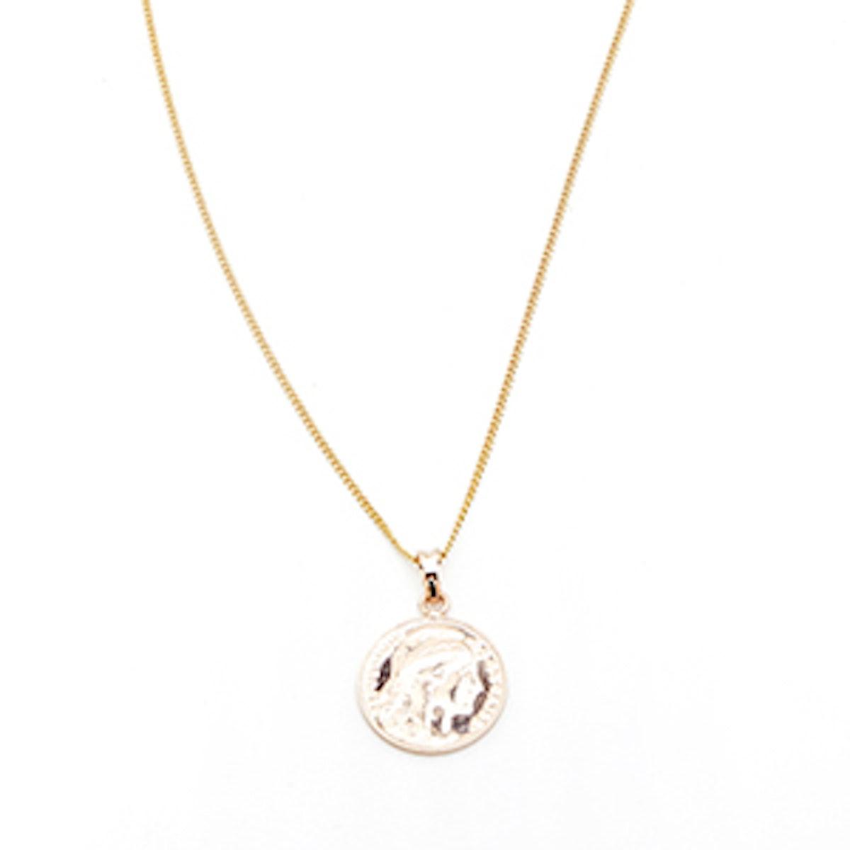 Gold Mini Lucky Coin Pendant