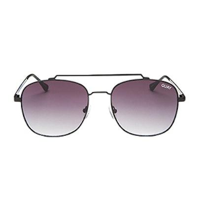 To Be Seen Mirrored Brow Bar Aviator Sunglasses, 57mm
