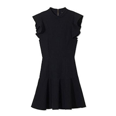Rocco High-Neck Twill Mini Dress