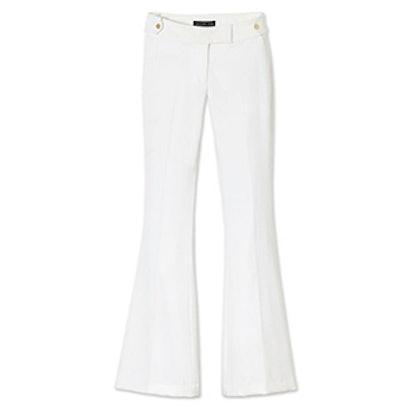 White Phoebe Twill Flare Pants