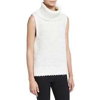 Adele Sleeveless Ribbed Turtleneck Sweater