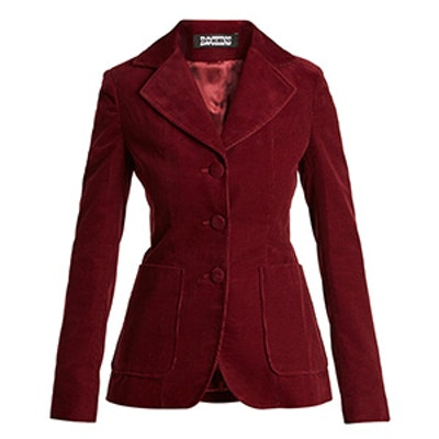 Single-Breasted Cotton-Blend Corduroy Jacket